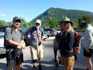Some of the directors preparing for the Sunday morning hike