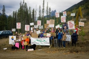 Recent rally to protect Jumbo from resort development - photo courtesy of Wildsight
