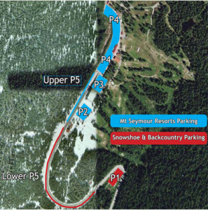 Mt Seymour's Parking Map