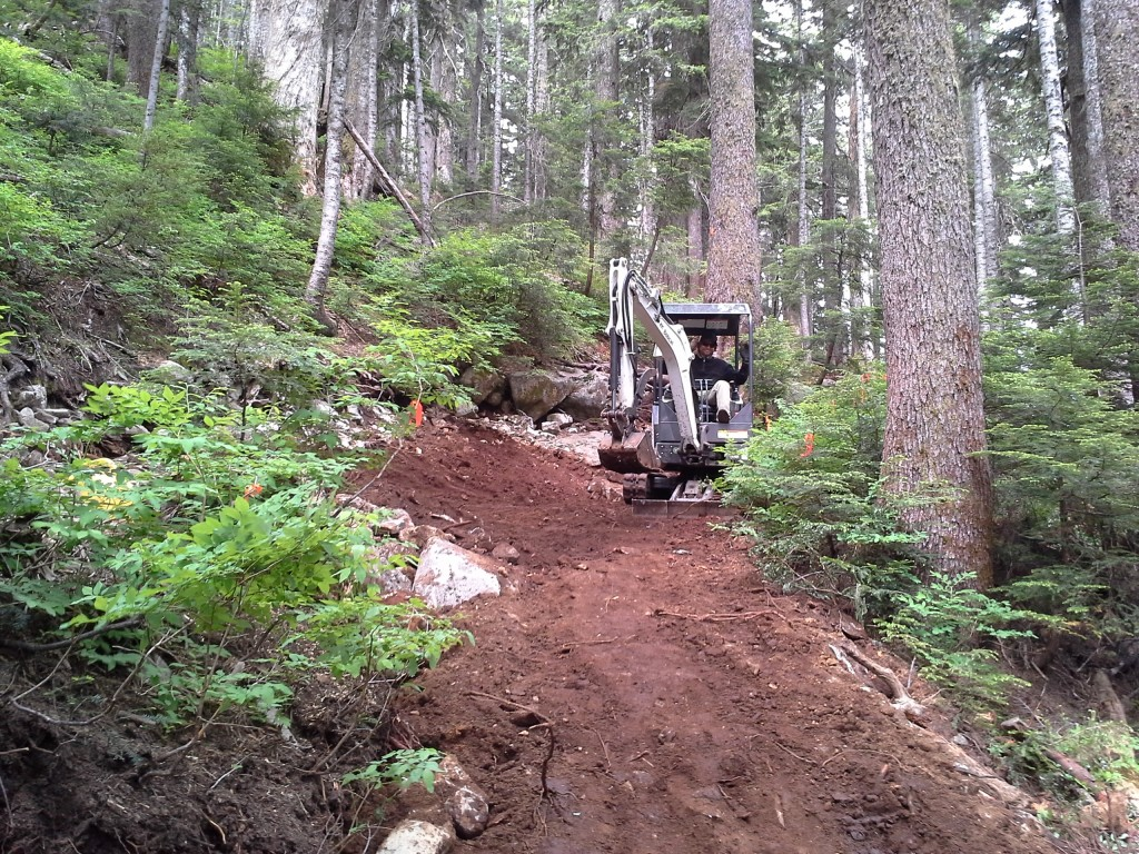 The Howe Sound Crest Trail gets a facelift earlier this year. Photo taken by Alex Wallace.