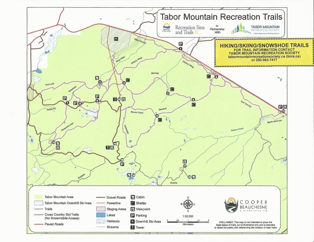 Hickory Wing Ski Touring Club Trail Map